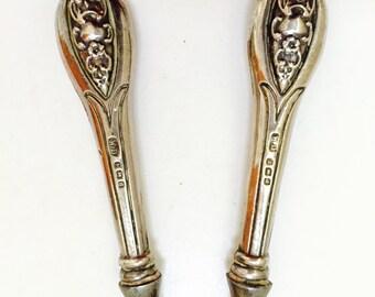Antique Sterling Silver Vanity Glove Stretcher.