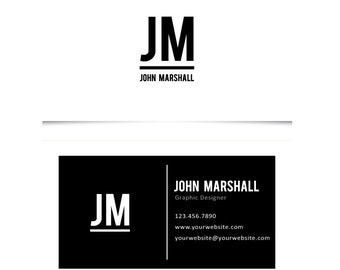 Design & Print - 500 business cards, personalized, business card design, business card printing, custom business cards, black and white,