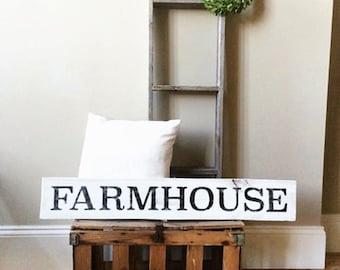 Farmhouse sign; Farmhouse Wooden Sign; Custom Wood Sign; Distressed Wooden Sign; Farm Decor; Farm Sign