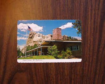 Vintage Postcard, UNUSED, Visitor Center, Mt. Rushmore, mid century