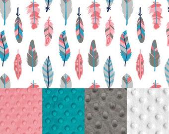 Feathers | CUSTOM - SewPerfect Minky Blanket