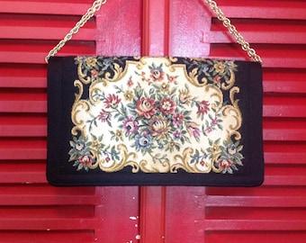 Vintage Delill Tapestry Handbag