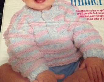 Toddler/Baby Easy Knit Jumper Knitting Pattern