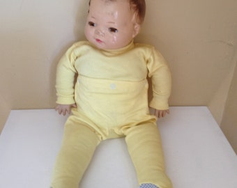 Vintage  Beautiful American Character Little Love composition baby doll amber sleep eyes 1942-1947.