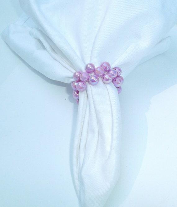 40 Purple Napkin Rings Napkin Holders Wedding Table Decor