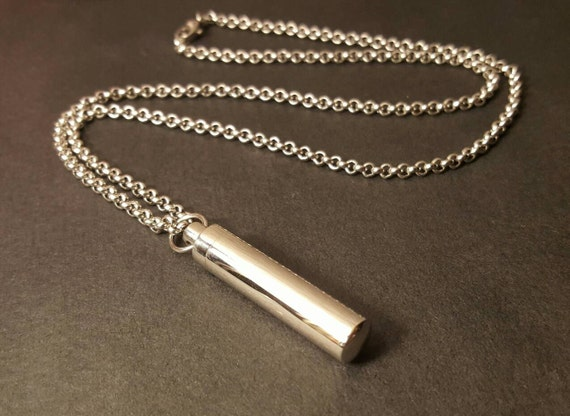 Stainless steel urn unisex urn cremation jewelry for men for Stainless steel cremation jewelry