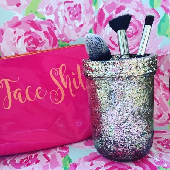 Glitter Mason Jar Makeup Brush Holder Best Friend by ...