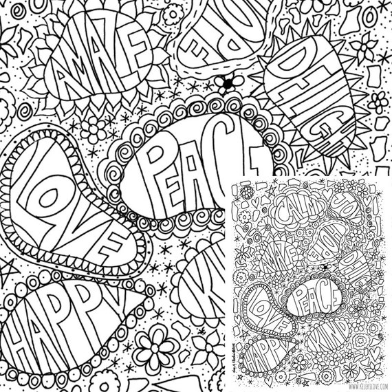 Kind Words Printable Coloring Page
