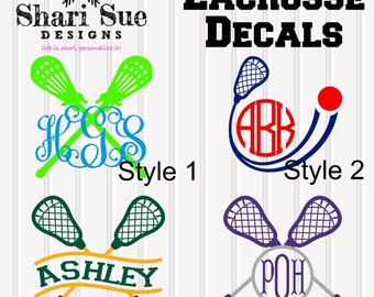 Lacrosse Personalized Decal
