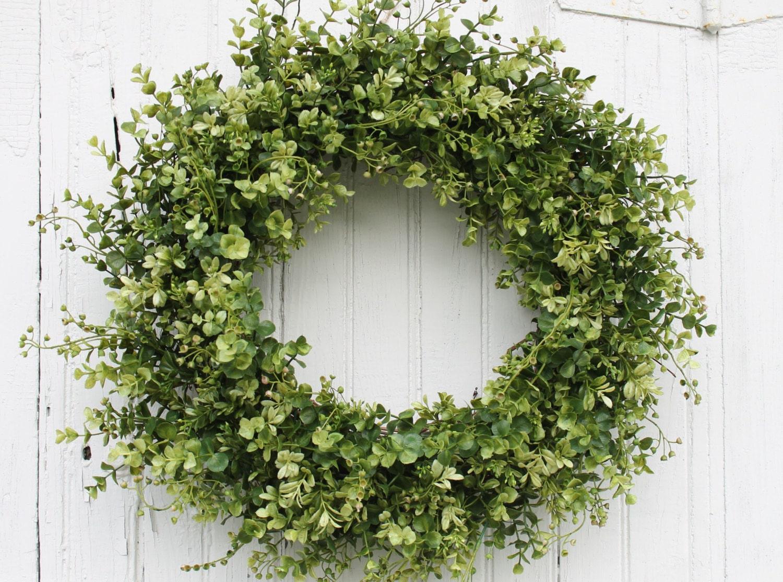 Boxwood Wreath Green Wreath Farmhouse Decor Everyday