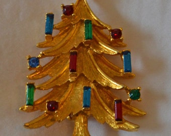 Mamselle Christmas Tree Brooch