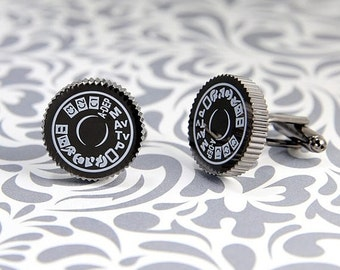ON SALE Camera Mode Dial Photographer Cufflinks
