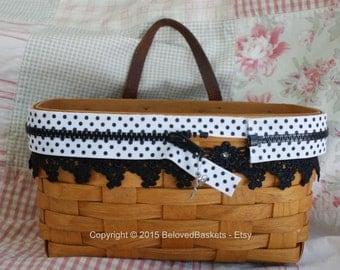 Longabeger embellished basket