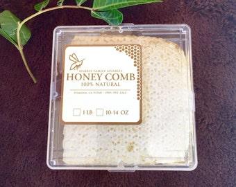 Raw Sage Blossom Honey Comb Square
