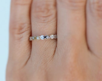 Infinity ring. Top quality silver infinity band ring. Cz sterling silver infinity band ring. Stacking ring. Band ring. 2mm silver band ring.