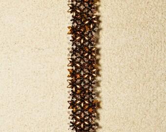 Bronze and gold Cuff Bracelet