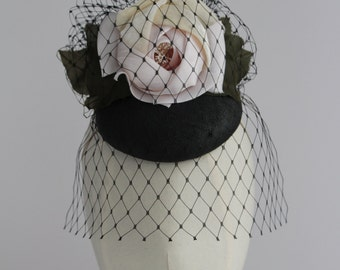 New Handcrafted Couture Headdress Headpiece Fascinator Hat Ascot Wedding