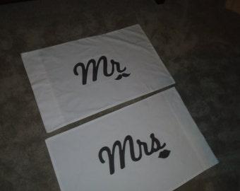 Wedding Mr & Mrs Pillow Cases