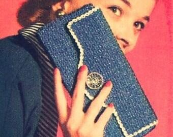 Crochet Pattern Pdf -Vintage crochet  Carry All Case 1950s