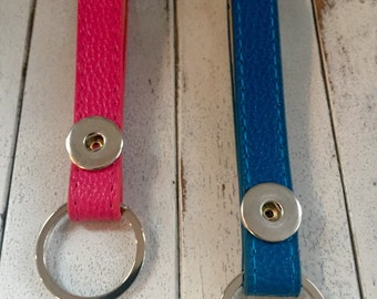 Wristlet Leather Snap Keychains