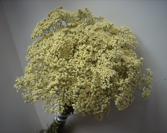 rustic dried flower bouquet yarrow , wild herb bunch rustic, home decor natural, botanical herbal medicine,Achillea millefolium