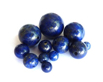 Lapiz lazuli bead wire Ø 8mm PCH0160 length of 35 cm