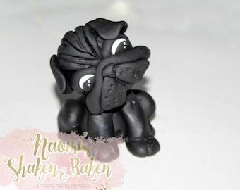 1x Edible 3D Pug Dog 8-10cm Fondant Cake Cupcake Toppers