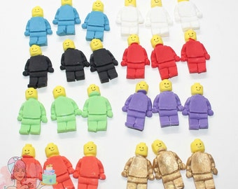 24x Lego Men Block Toy Fondant Edible Cupcake Cake Toppers