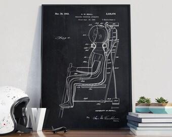 Pressure Apparatus 1940 Patent, Pressure Patent Poster, NASA Print, Space Patent, Space Suit Patent - DA0292