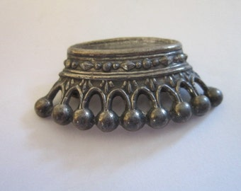 Antique Silver Victorian Crown Brooch