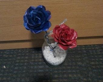 Metal rose bouquet (6)