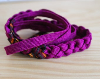 Handwoven Headbands/Guatemalan Headbands/Woven Hippie Headbands/Woven Hippie Bracelets/Handwoven Hairbands/Hippie Headwraps