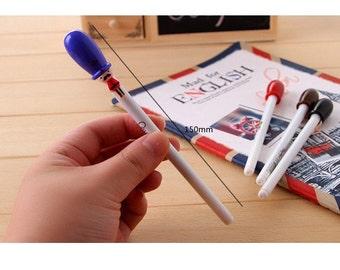 Gell Pen 0.38mm UK Royal Guard Kawaii - Black Ink - School Office Supplies