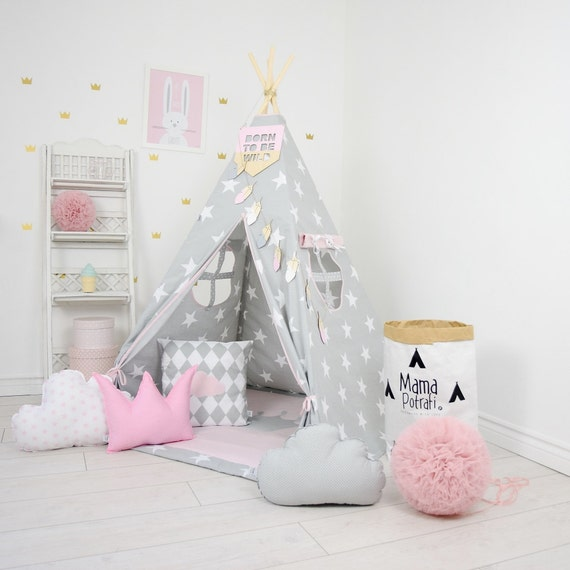 tipi set kinder spielen zelt tipi kid spielen tipi kind tipi. Black Bedroom Furniture Sets. Home Design Ideas