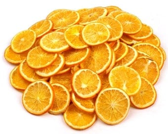 SALE 75-80 pcs Dried orange slices, slices of decorative orange slices, Potpourri, dried organge, a big bag of orage slices, Mandarin Slices