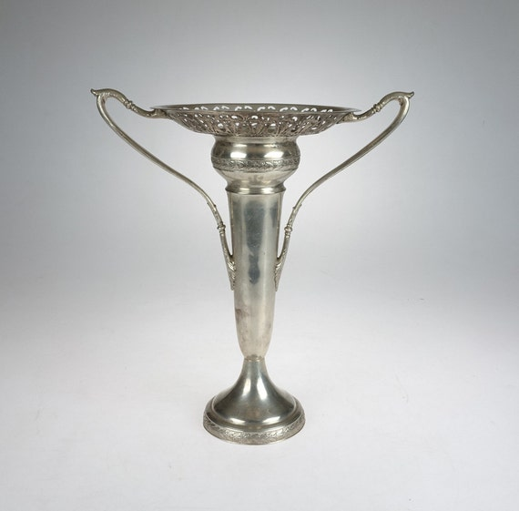 Vintage Silver Plated Trophy Cup Large Trophy W M By