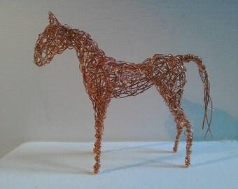 Copper Wirework Horse Sculpture