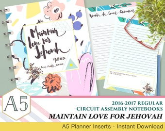 JW Circuit Assembly Regular Notebook - Maintain Your Love for Jehovah - 2016-2017 - English
