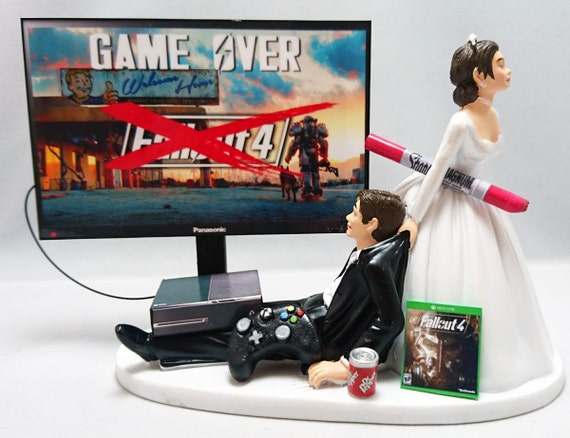 xbox one wedding cake wedding cake toppe and groom xbox one ps4 pc 27673