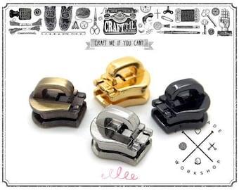 10PCS No.5 Locomotive Auto Lock Zipper Slider Reversible For Handbag (for metal teeth)