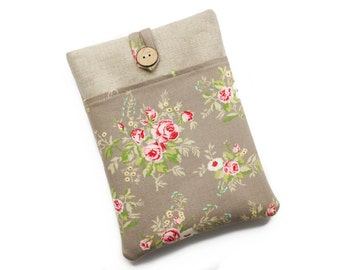 Kindle Cover, Kindle Paperwhite Case, Kobo Touch Case, Kindle Case, Kindle Touch Case, Nook Glowlight Plus Case, Floral Roses