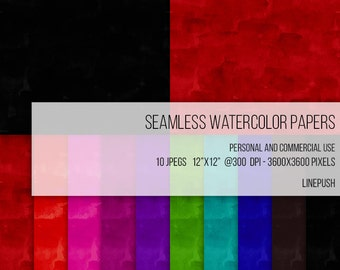 SALE! Seamless Watercolor Papers, Digital Papers, Background, Clipart Texture Pack Wallpapers Backgrounds Clip art, pink, black gothic paper