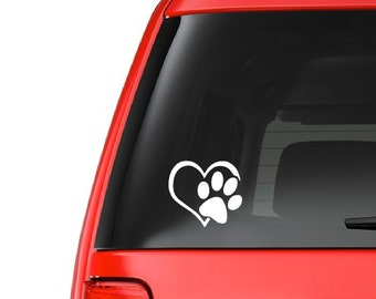 Heart Paw (A21) Dog Cat Puppy Vinyl Decal Sticker Car/Truck Laptop/Netbook Window