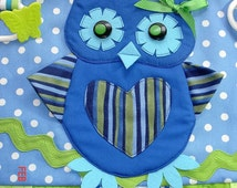 NEW OWL Fidget Activity Tactile Sensory Quilt Wheelchair Blanket for Alzheimers stroke autistic dementia anxiety, brain trauma pT