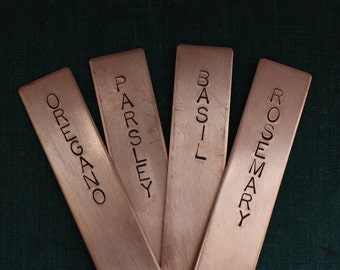 Copper Herb Plant Markers // Blank // Simple // Handmade // Stamped