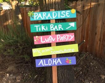 Tiki Bar Clock Etsy