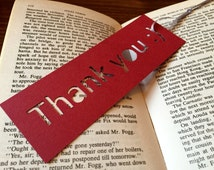 Handmade bookmark, mini gift, Thank you, Gift for postman, book lovers, Christmas gift ideas, coworker gift ideas, gift for neighbour