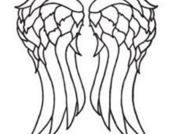 Daryl Dixon Decal -Wings - Norman Reedus - The Walking Dead - TWD - Walkers - Daryl - Crossbow