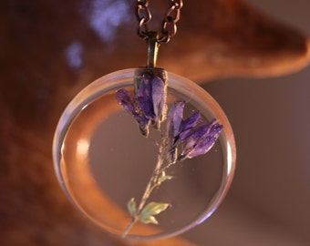 "Pendant - ""uncluttered purple"""