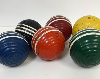 Vintage Croquet Balls